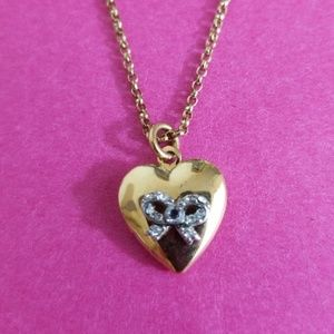 Juicy Couture Gold Heart Locket Necklace